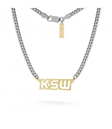 Boxhandschuh Halskette MMA, Bordsteinkette, Silber 925