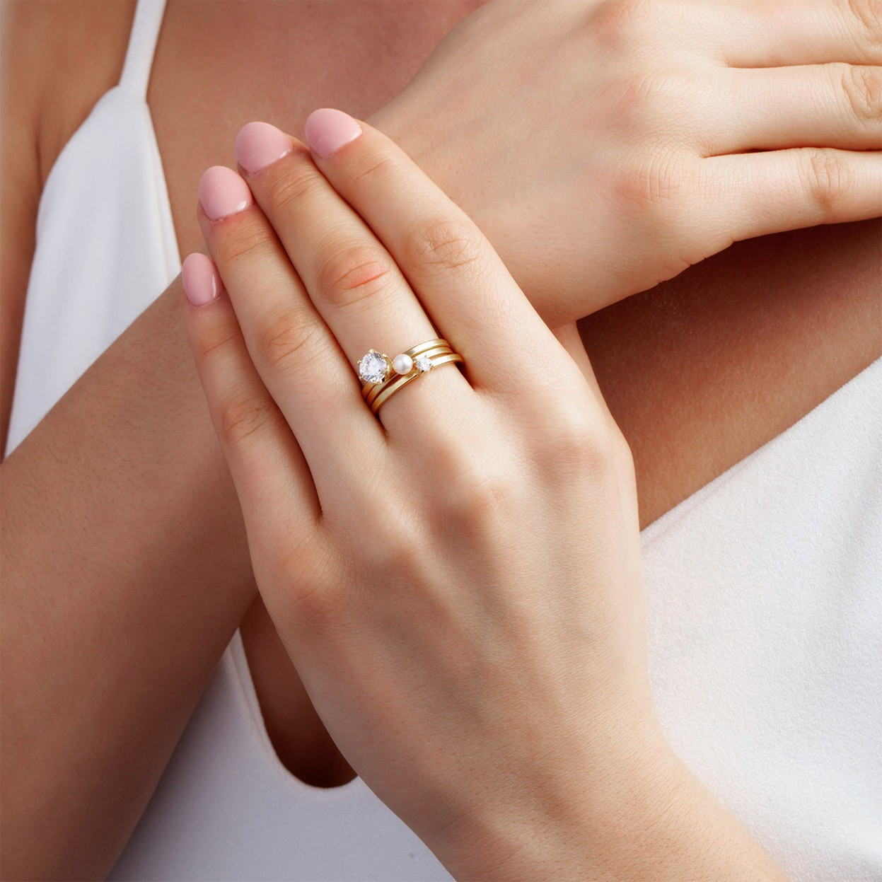 Srebrny pierścionek z cyrkonią 6mm My RING™ 925