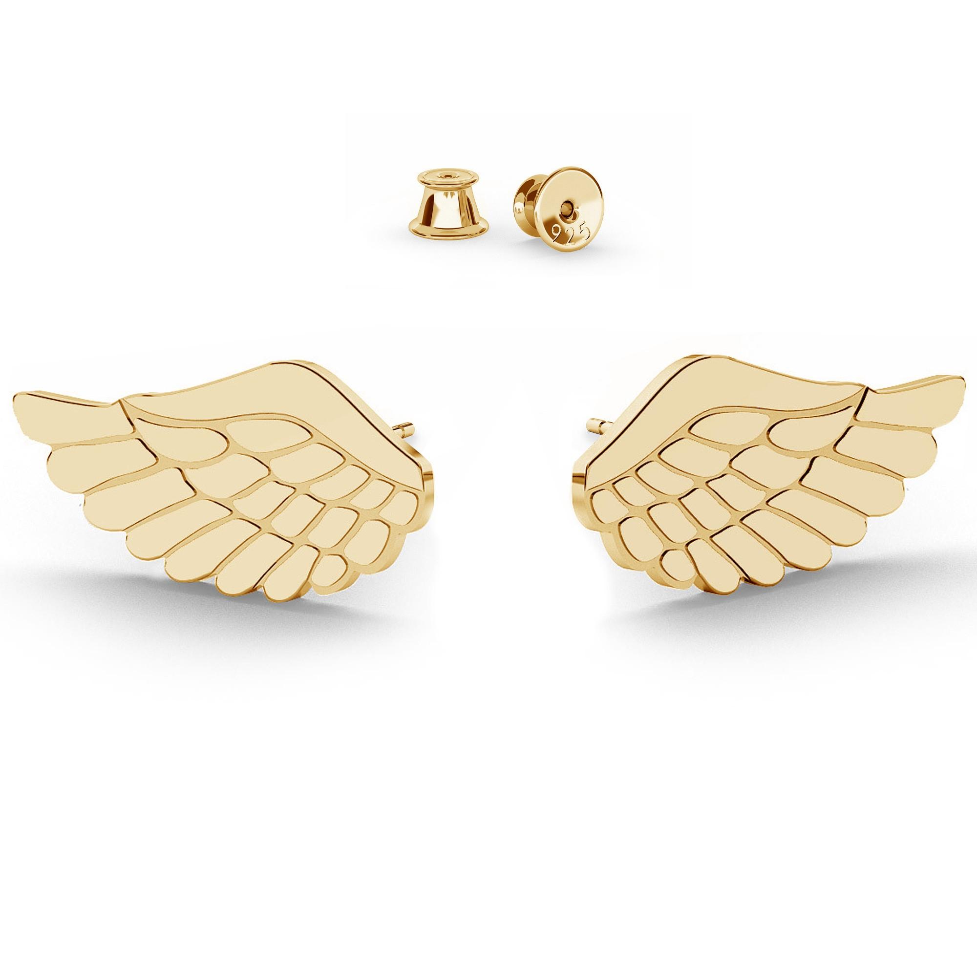 Srebrne kolczyki duże skrzydła anioła, srebro 925