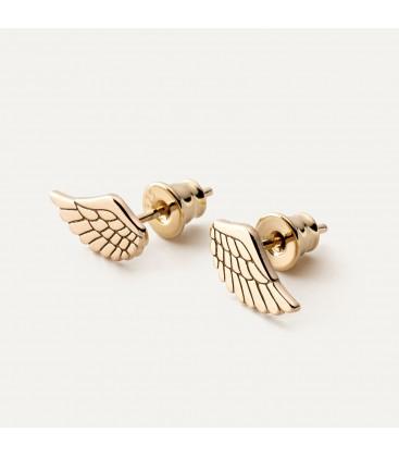Pendientes alas de angel, plata 925