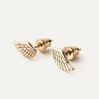 EARRINGS ANGEL WINGS, STERLING SILVER (925) RHODIUM OR GOLD PLATED