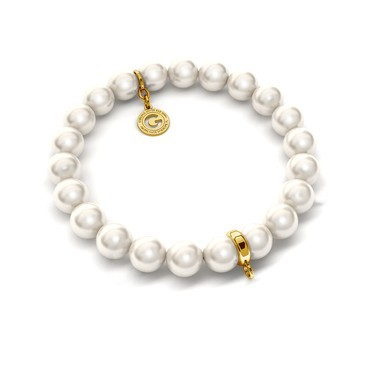 Flexible bracelet with pearls (Swarovski pearl) for 1 charms