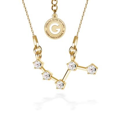 BARAN srebrny naszyjnik zodiak z kryształami Swarovskiego 925