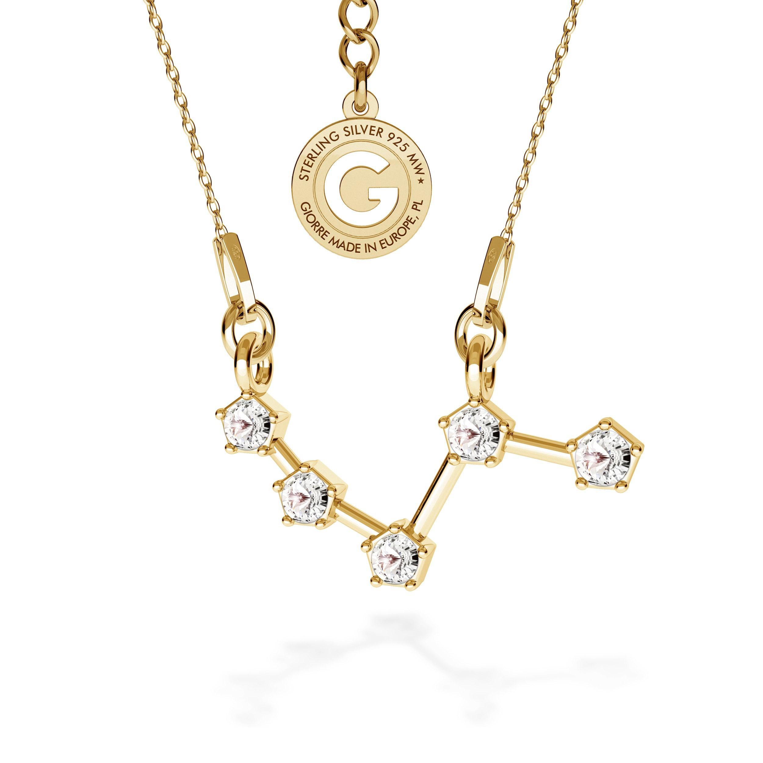 ARIES signo del zodiaco collar plata 925 Swarovski