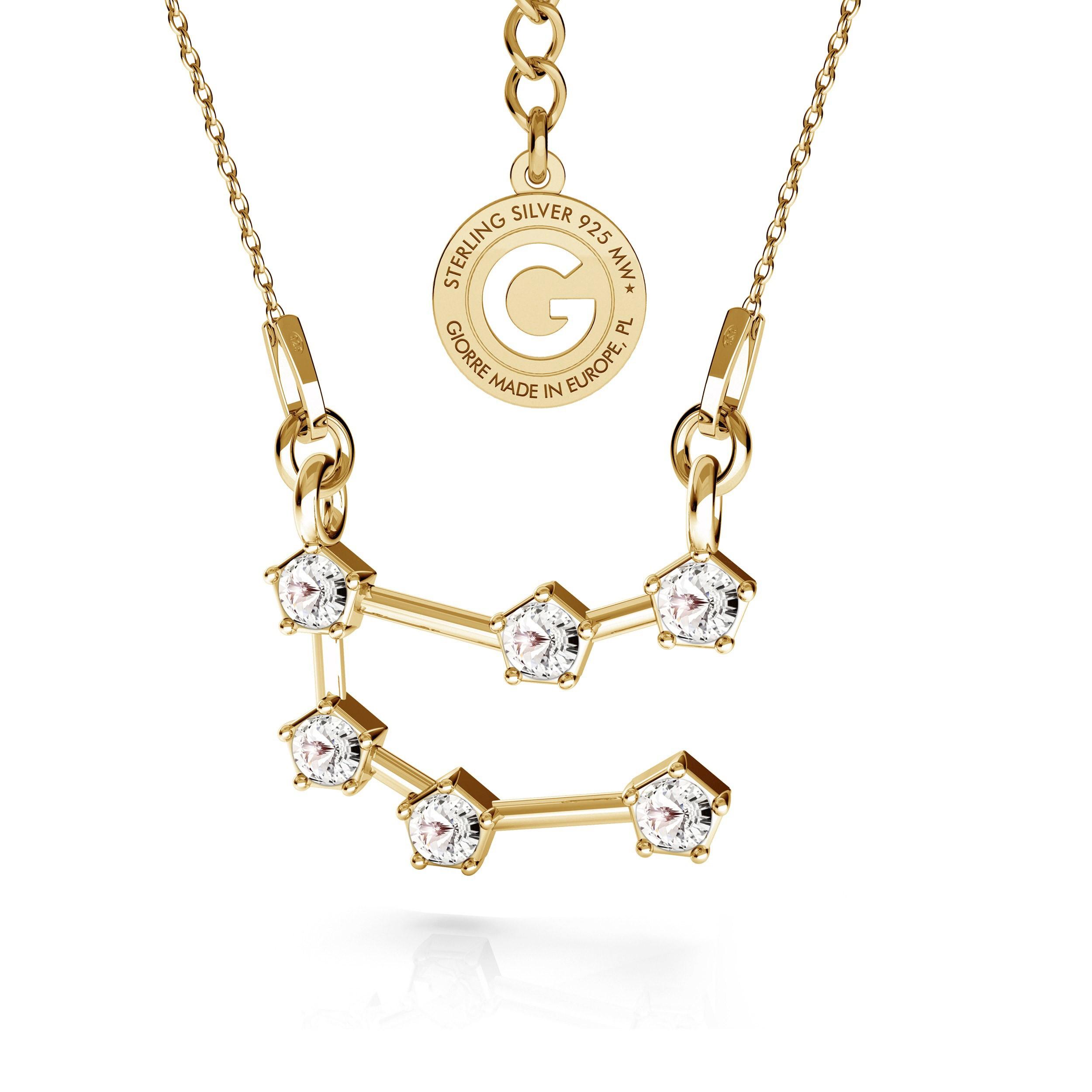 GEMINI zodiac sign necklace with Swarovski Crystals silver 925