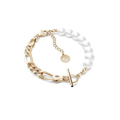 Pearls bracelet charms base MON DÉFI, Silver 925