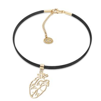 MON DÉFI choker - human heart sterling silver