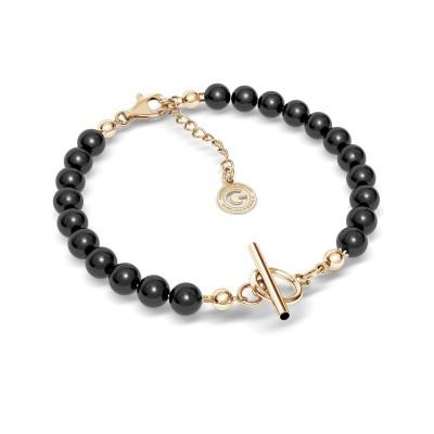 Czarna perłowa bransoletka do wpinania charmsów srebro 925, Swarovski