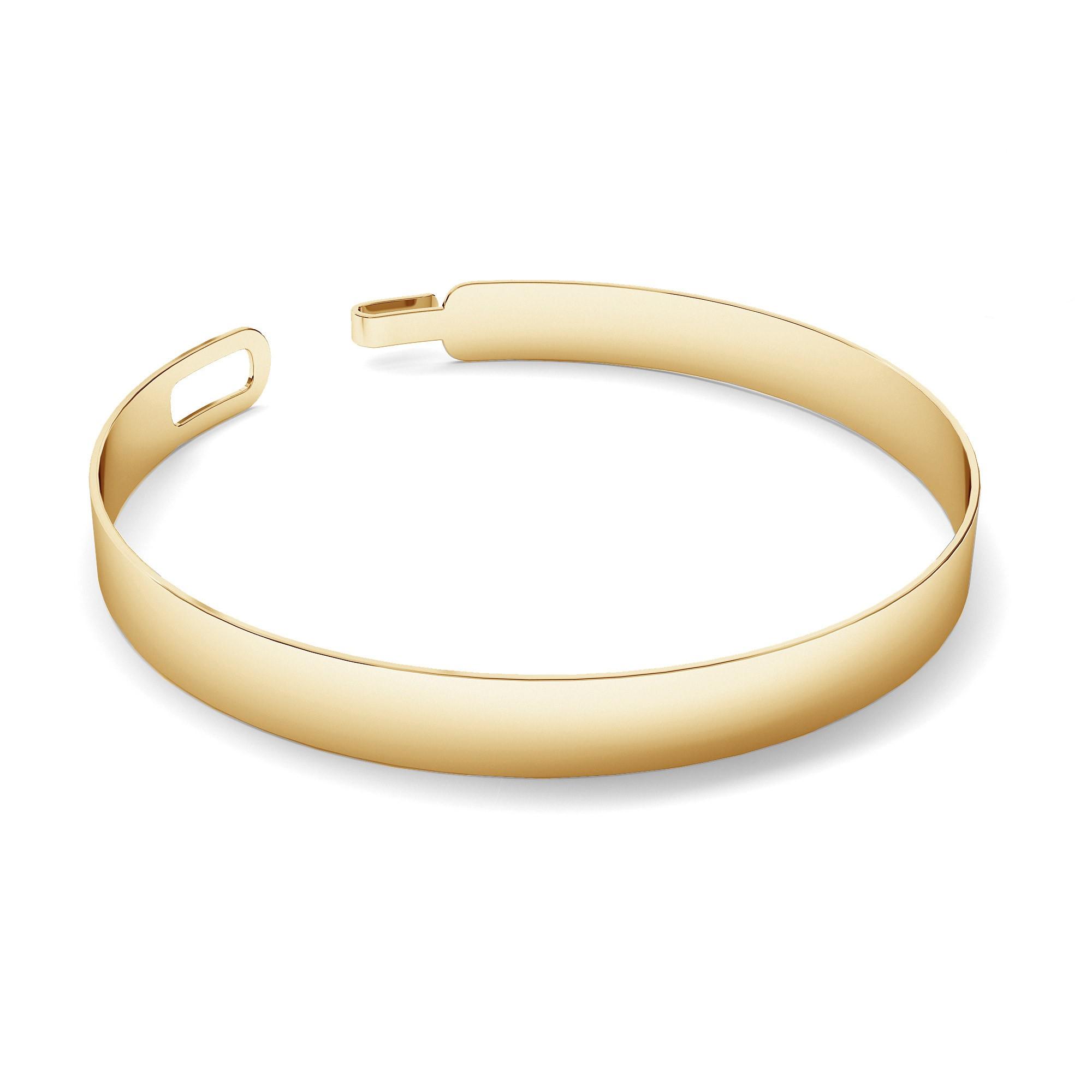 Unisex bangle bracelet, glossy sterling silver 925