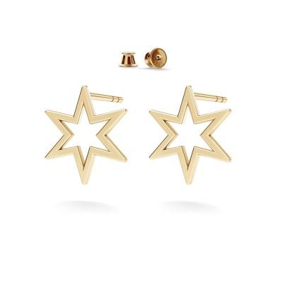 Star earrings sterling silver