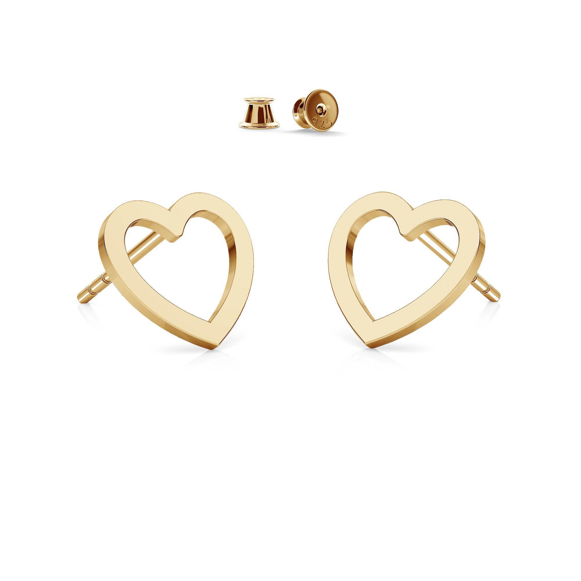 Small heart earrings sterling silver