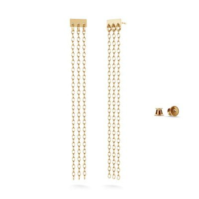 Long sticks earrings sterling silver 925