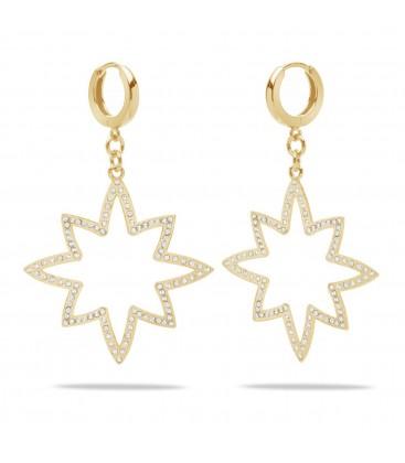 Estrella swarovski aretes de plata 925
