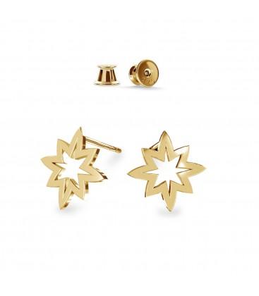 Kolczyki gwiazdki, srebro 925