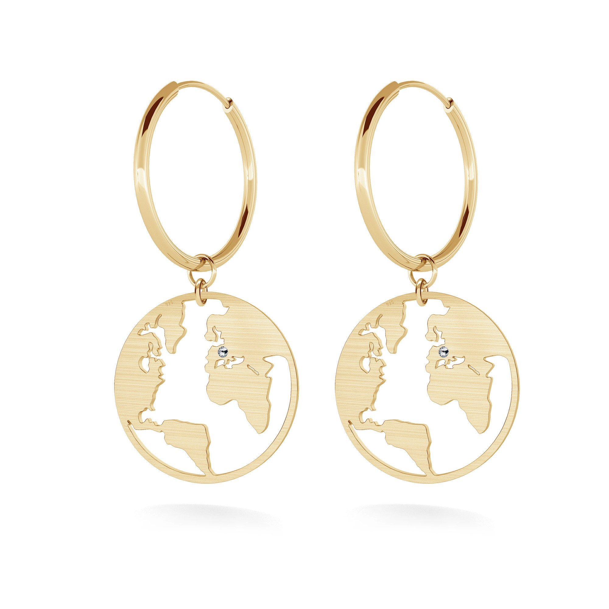 Globe hoop earrings MON DÉFI sterling silver 925