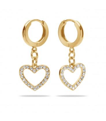 Kolczyki serce wysadzane kryształami Swarovski, srebro 925
