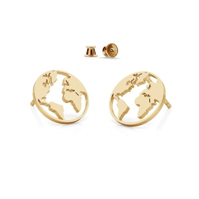 Globe hoop earrings MON DÉFI sterling silver 925