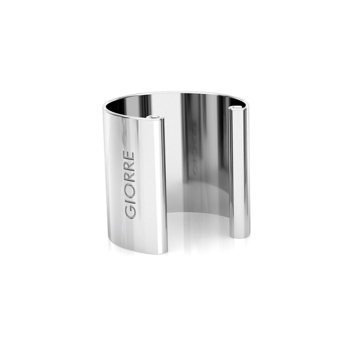 Kolczyk nausznica 1 cm, srebro 925