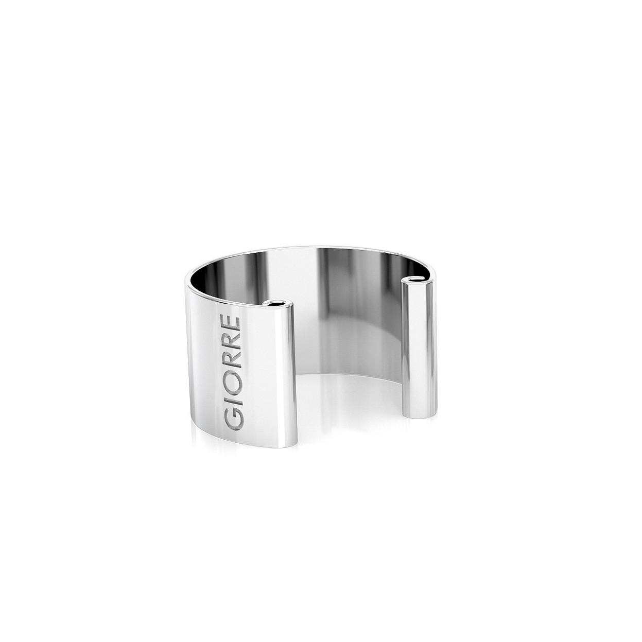 Kolczyk nausznica 0,6 cm, srebro 925