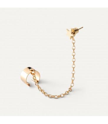 Chain earrings STAR sterling silver 925