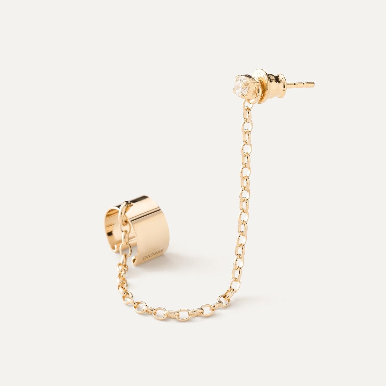 Chain earrings POLAR STAR sterling silver 925