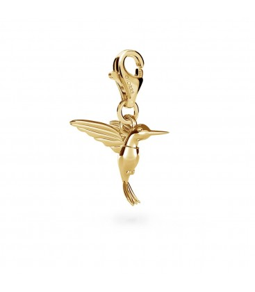 Humming-bird pendant charms bead sterling silver