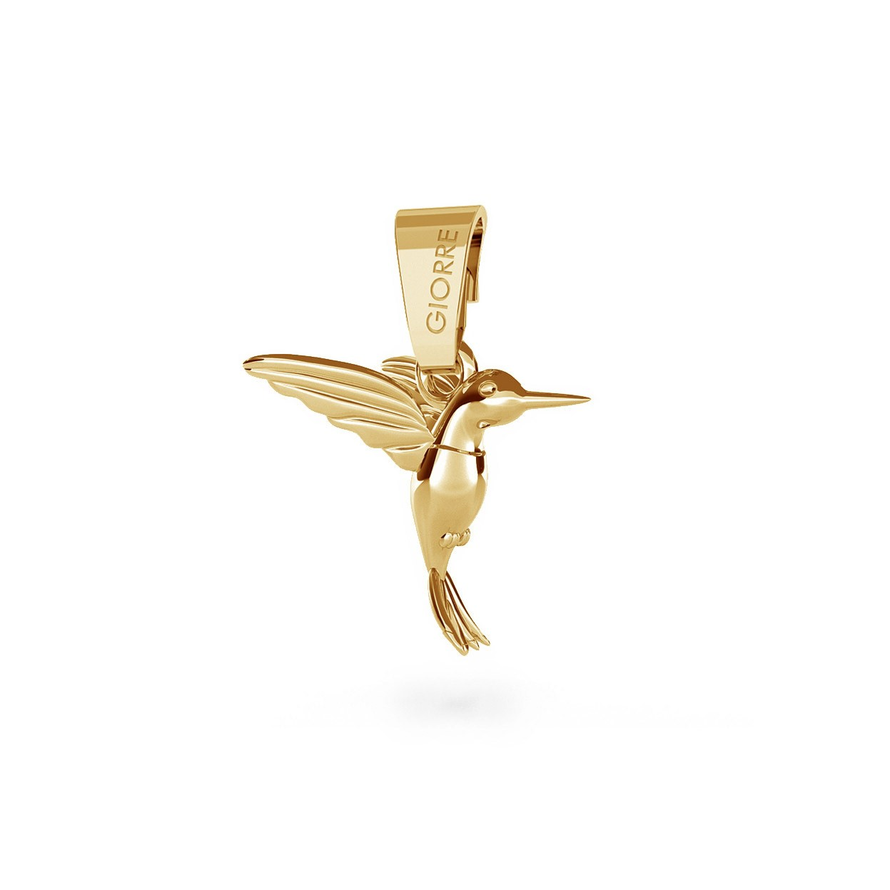 CHARM 20, HUMMING-BIRD, SILVER 925, RHODIUM OR GOLD PLATED