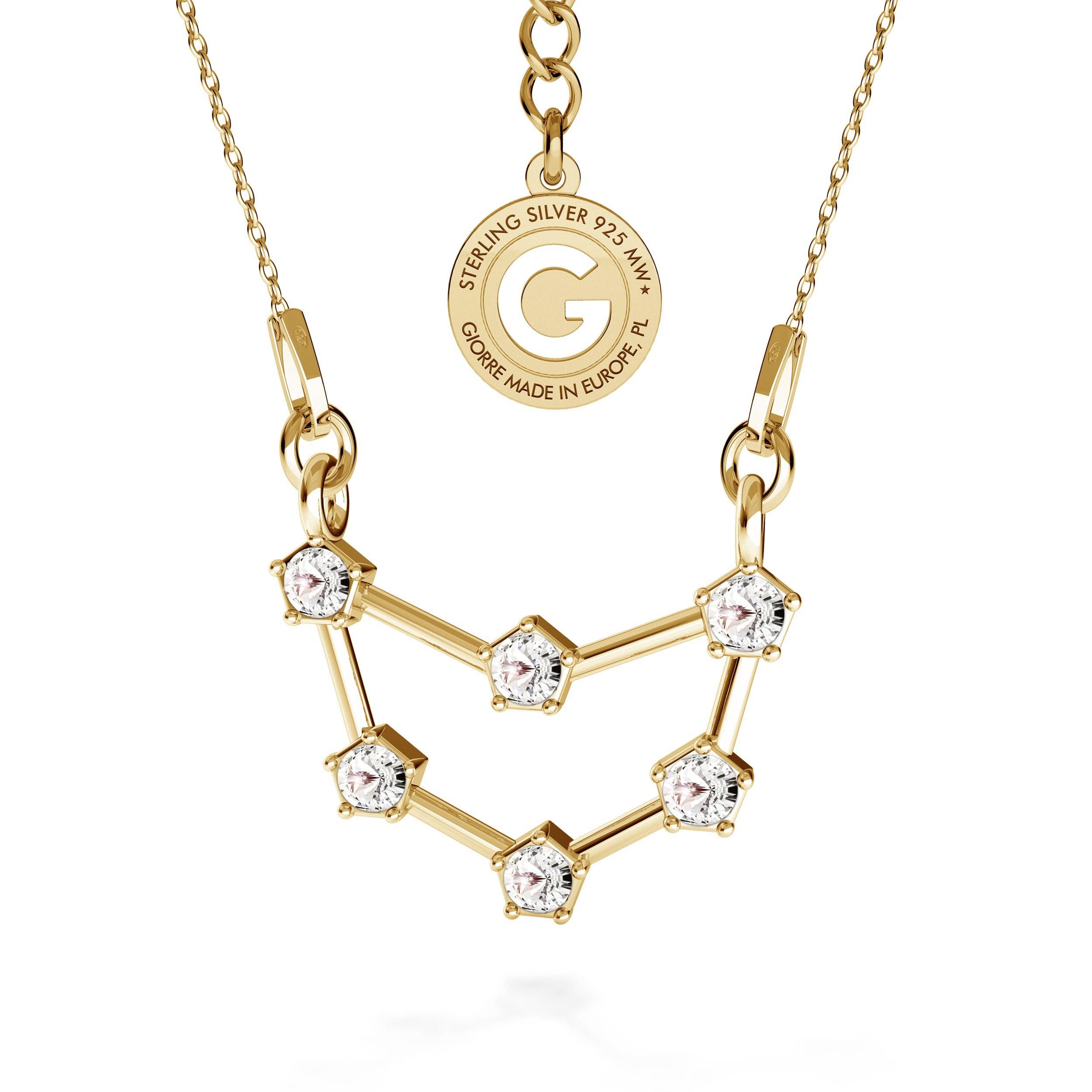 CAPRICORN zodiac sign necklace with Swarovski Crystals silver 925