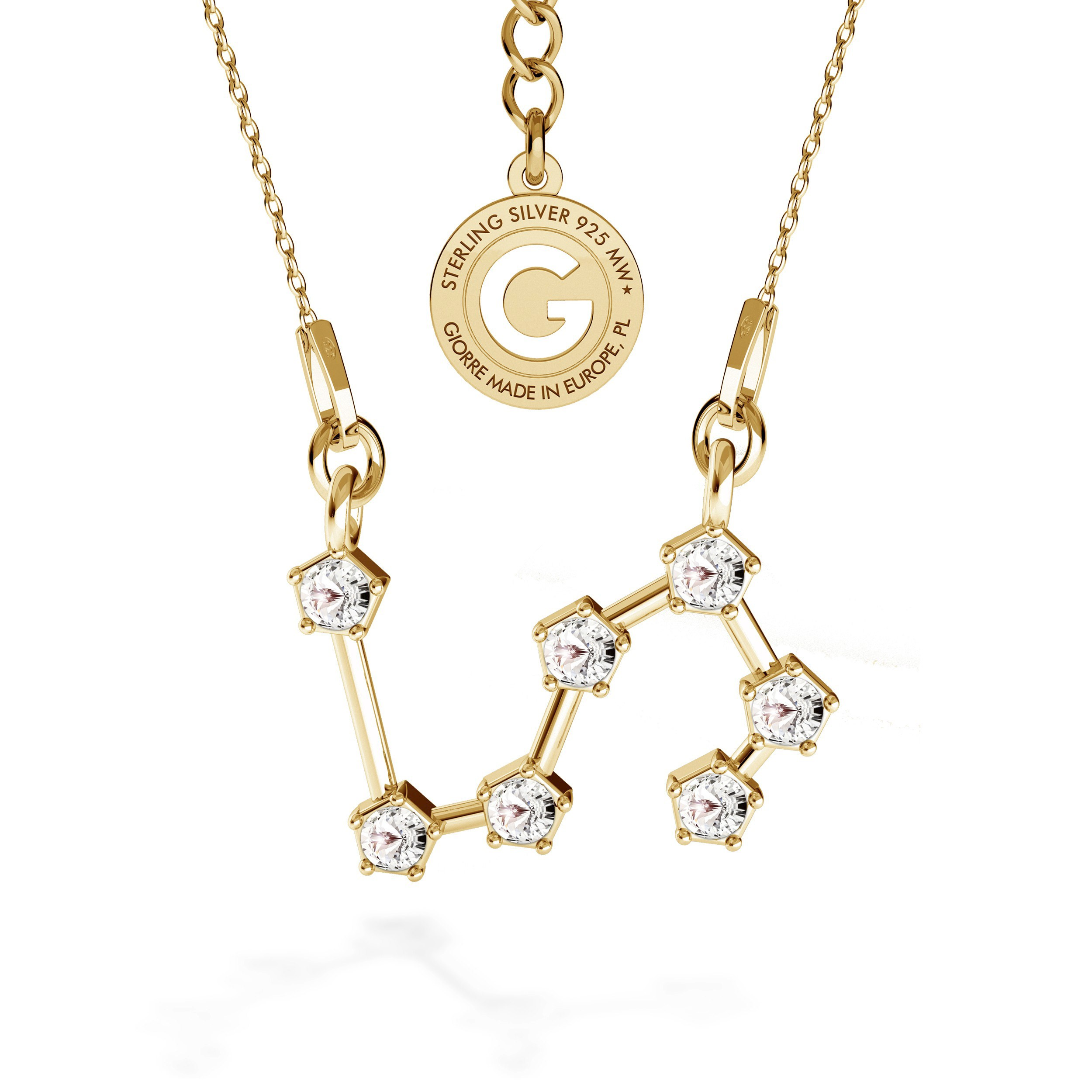 LEON signo del zodiaco collar plata 925 Swarovski