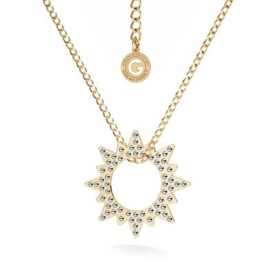 Medalion SŁOŃCE wysadzane kryształami Swarovski, srebro 925