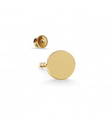 Ohrring runde abzeichen 4mm