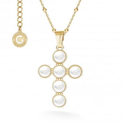 Attraversare con swarovski collana argento 925