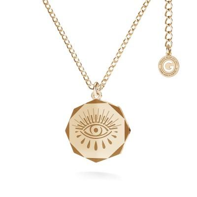 Naszyjnik medalion oko Horusa MON DÉFI srebro 925
