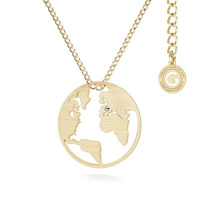 MON DÉFI Necklace - Globe, Silver 925 curb chain