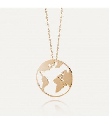 MON DÉFI Necklace - Globe, satin silver 925