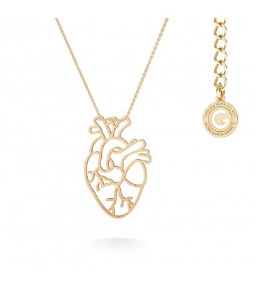 MON DÉFI Necklace - anatomic heart, sterling silver 925