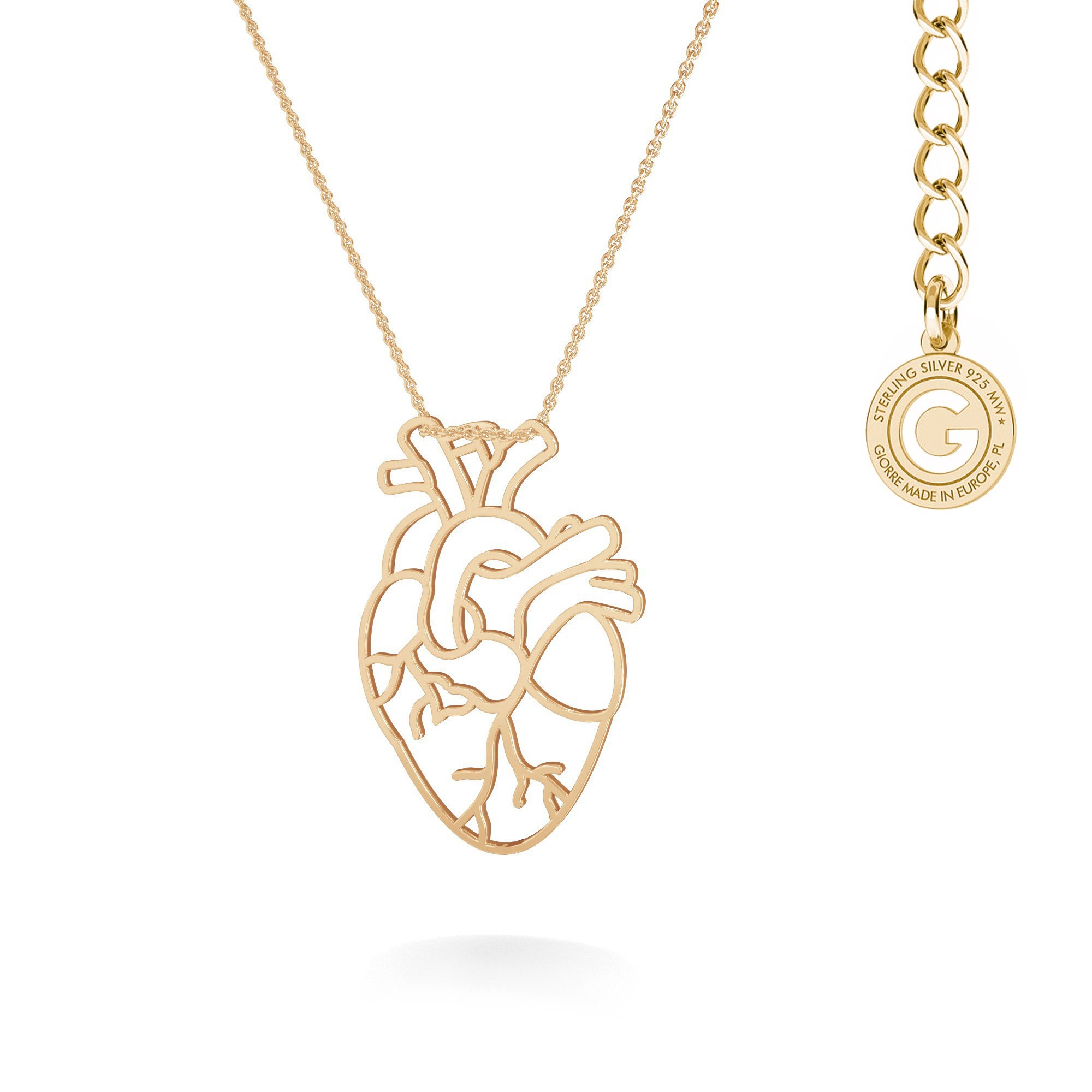 Naszyjnik MON DÉFI serce anatomiczne srebro 925