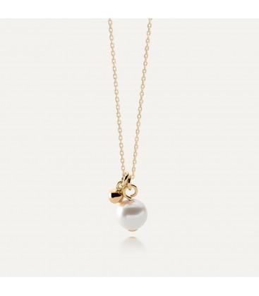 Naszyjnik z perłą Swarovski, srebro 925