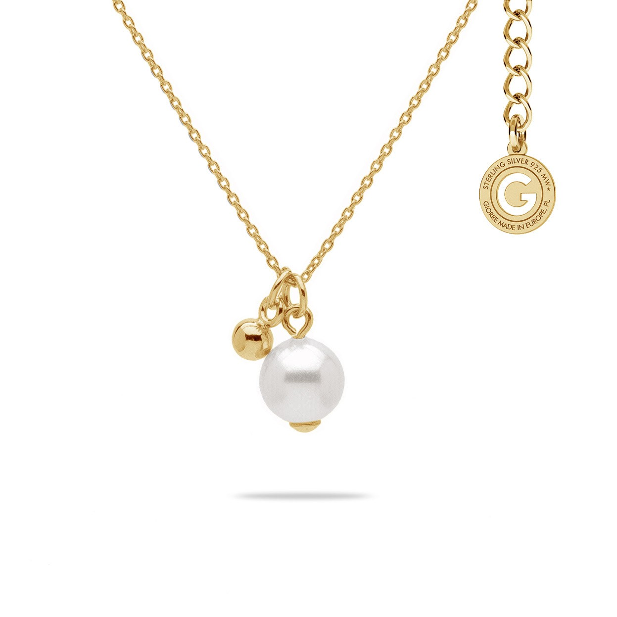 NECKLACE WITH PEARL, STERLING SILVER 925