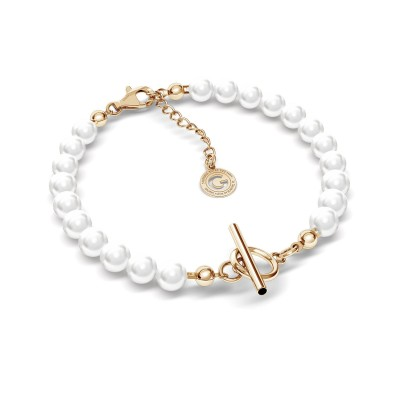 Pearls bracelet with your letter, Silver 925