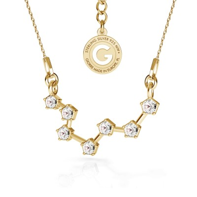 PISCES zodiac sign necklace with Swarovski Crystals silver 925