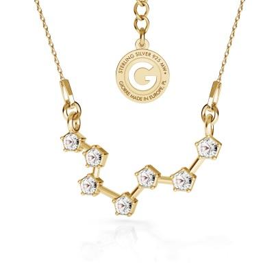 RYBY srebrny naszyjnik zodiak z kryształami Swarovskiego 925