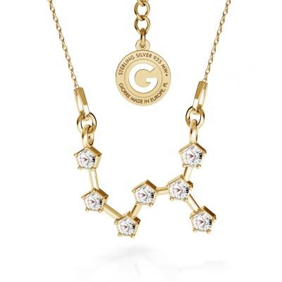 SKORPION srebrny naszyjnik zodiak z kryształami Swarovskiego 925
