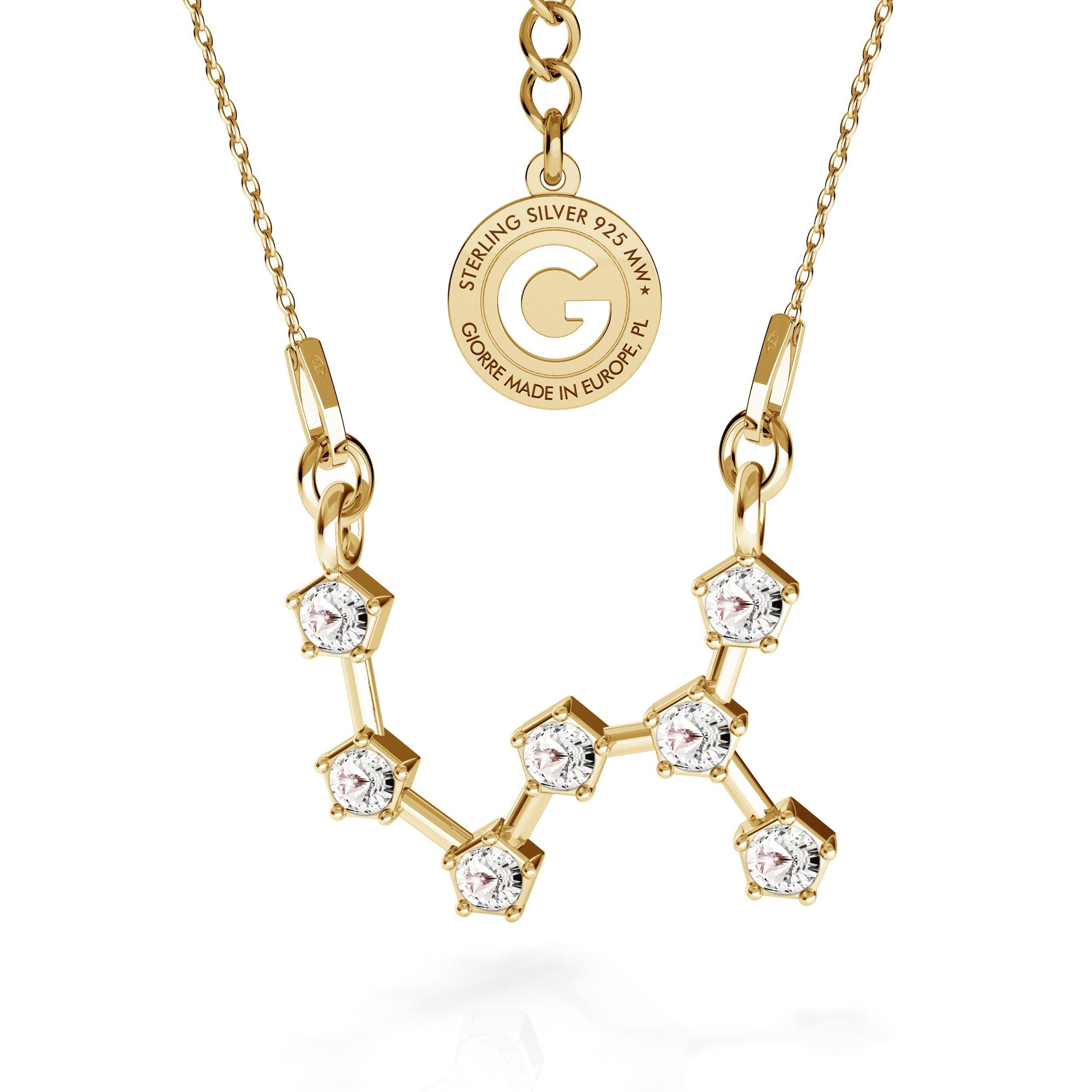 ESCORPION signo del zodiaco collar plata 925 Swarovski