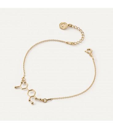 Bracelet adrenalin chemical formula, sterling silver 925