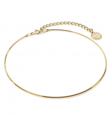 Srebrna bransoletka na nogę linka, srebro 925