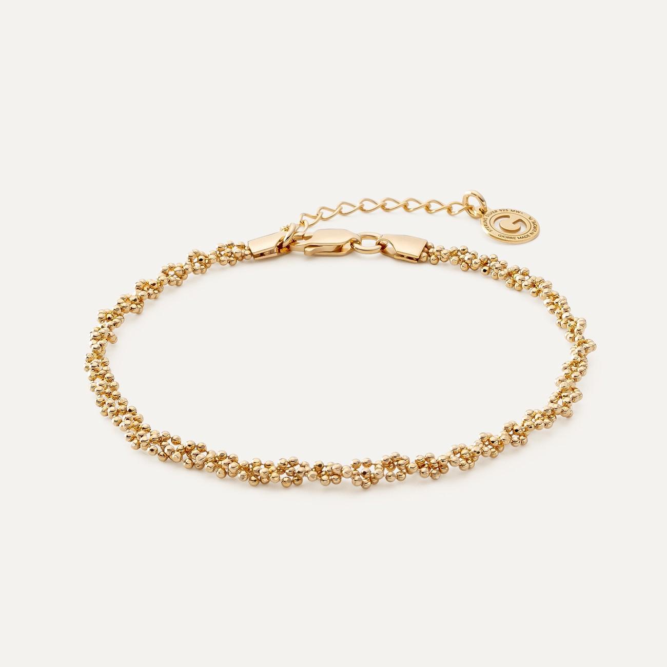 Srebrna bransoletka pleciona z 3 łańcuszków kulkowych, srebro 925