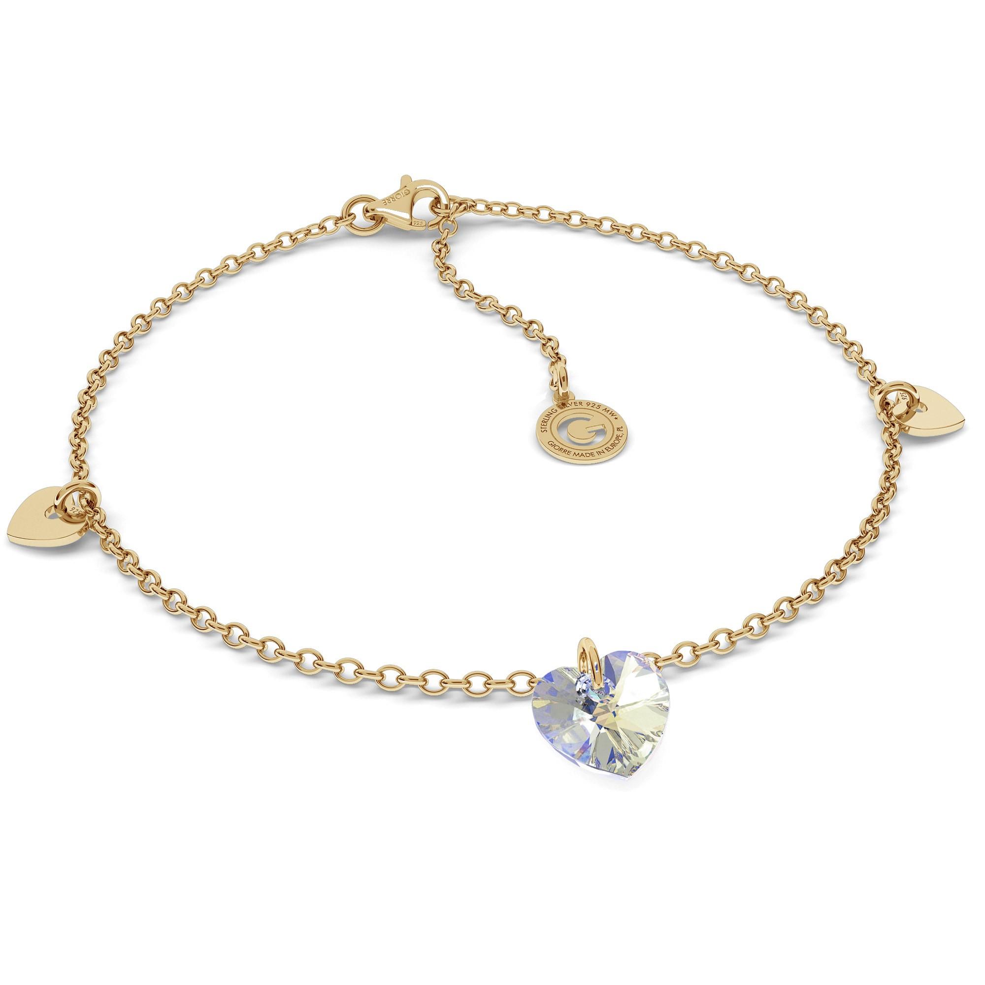 Srebrna bransoletka z sercami, srebro 925