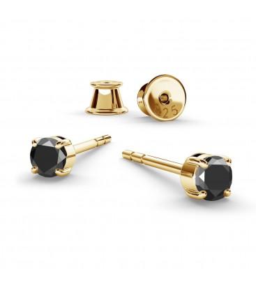 3mm black diamond earrings 0.22k