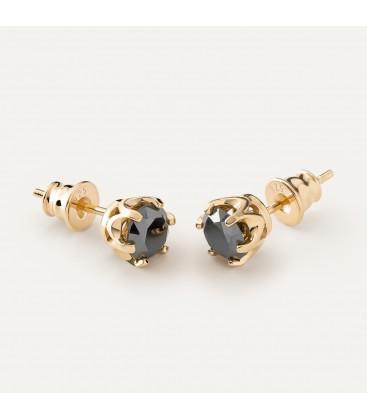 6mm black diamond earrings 1.8k